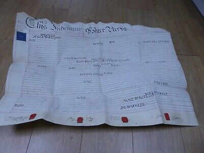 1809 King George III Assignment House in Totnes Vellum Indenture Manuscript R#11