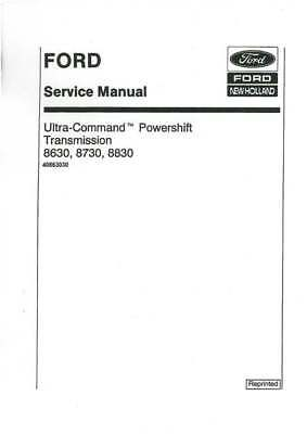 Ford Tractor 8630 8730 8830 Powershift Transmission Workshop Service Manual