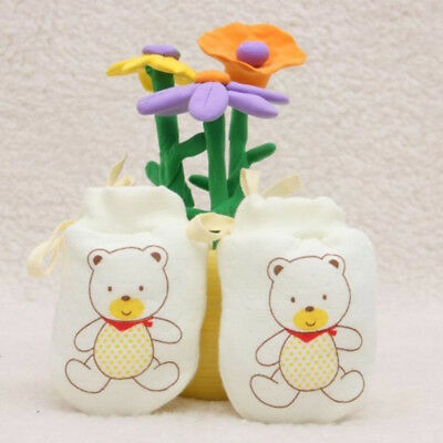 Cute Cotton Neonatal Soft Boys Girls Cartoon Mittens Gloves Baby Infant Newborn