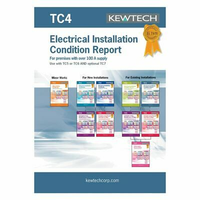 Kewtech TC4 Electrical Installation Condition Report Premises with over 100A