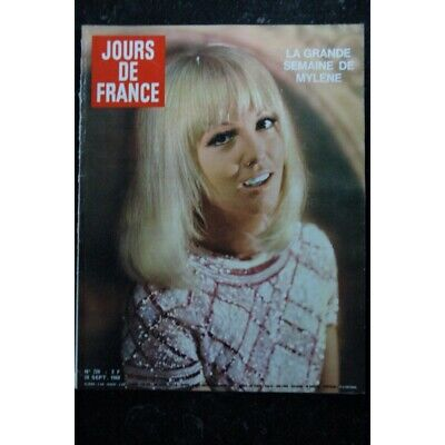 JOURS DE FRANCE   720  Septembre 1968   COVER Mylène DEMONGEOT  + 5 pages GRECO