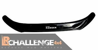 Bonnet Guard Bra Glossy Black to fit Ford Ranger 2016-2018