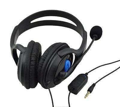 Headset With Microphone +Volume Control For Ps4 (Anthem / Far Cry / Metro Exodus