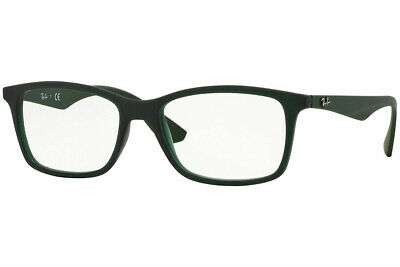 996d605e1a7 New Authentic Ray ban unisex Rectangle Eyeglasses RX7047 Green Black 5483 56
