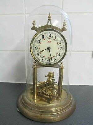 Kundo Glass Domed Anniversary Clock For Spares Or Repair 12.5Inch