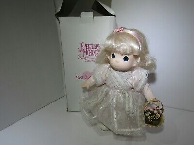 """Precious Moments 12""""  Janelle 1st Edition Doll 1997 Vinyl / Cloth New With Tag"""