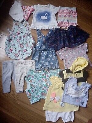 Baby Girl Summer Holiday Clothes Bundle 3-6 Months