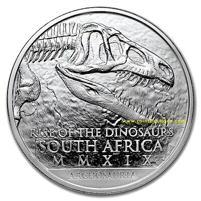 ARCHOSAURIA 1oz Silver Coin South Africa with COA and Blister 2019