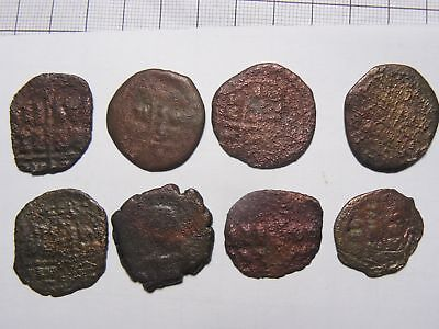 8 Ancient Byzantine coin lot, 20-30 mm, Jesus coin,authentic, cleaned (c122881)