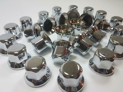 60x 33mm LUX WHEEL NUT COVER PLASTIC CHROME CAPS fit Truck VOLVO SCANIA MERCEDES