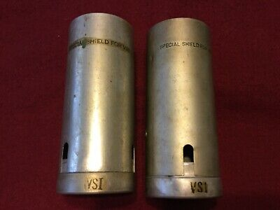 """Vintage Heat Shield Tubes, """"Special Shield For VSI"""", for Western Electric Tubes."""