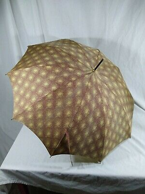 Vintage Stick Umbrella with Acetate Cover Brown Bakelite Handle Made in Italy