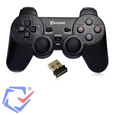 Wireless Funk Controller Kabelloses Gamepad für PC Computer & PS USB Receiver