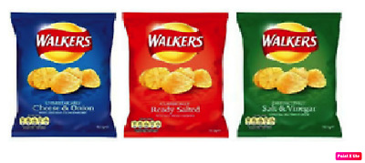 Walkers Crisps Variety 60 x 25g Packs - Classic Flavours Crisps