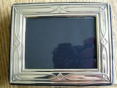 """VINTAGE 3.5"""" x 2.5"""" ENGLISH HM1996 SOLID SILVER PHOTO PICTURE FRAME CARRS NO RES"""