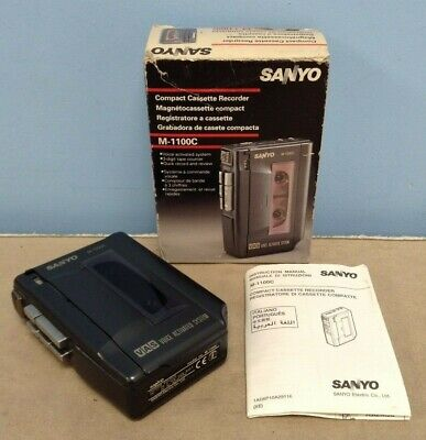 Sanyo M-1100C Voice Activated System Compact Cassette Recorder - Working