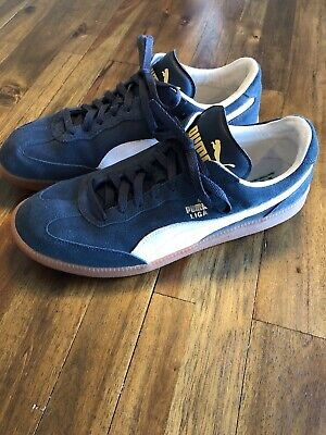 69d0acd96d7 Puma Liga Blue Suede w Gum Sole Sneakers - Size 12 Great Condition!