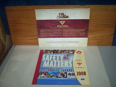 "Canadian Tire 2012 Heritage Collection Calendar 14"" x 11"" & 2008 Safety Calendar"