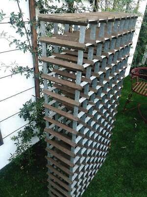 Wine Rack. 240 x 250 x 1500 high. Holds 128 bottles. Worn but a great piece