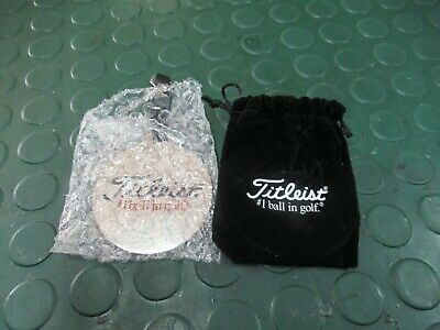 BRAND NEW COOL LOOKING TITLEIST BAG TAG AND BALL MARKERS Comes with velour pouch