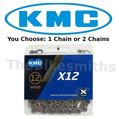 1 or 2-Pack KMC X12 12 Speed Chain 126 Links Extra Stretch Proof MTB Fat Bike