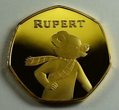 Brand New RUPERT THE BEAR 24ct Gold Commemorative Coin Albums/50p Collectors.