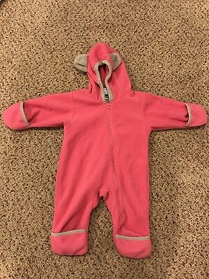 d3d4a7cae0e8 COLUMBIA 6 MONTHS Pink Fleece Baby Winter Snow Suit snowsuit Bunting Hood