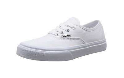 ef8a866a1b987 VANS AUTHENTIC TRUE White Canvas Lace Up Kids Fashion Sneakers Girls Boys  Shoes