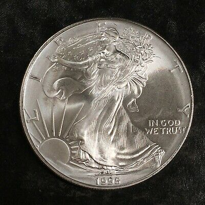 1995 Uncirculated American Silver Eagle US Mint Issue 1oz Pure Silver #H459