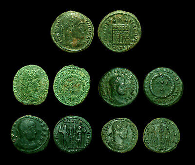 Lot 5 coins - Constantine the great & his 4 sons