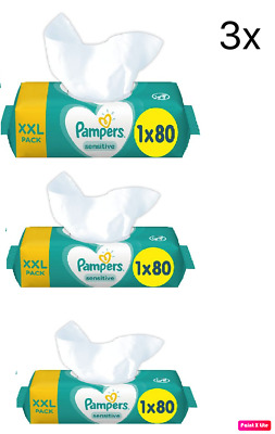 Pampers Sensitive Protect Baby Wipes 3,5,18, 36 Packs Wet Wipes Fast Dispatch