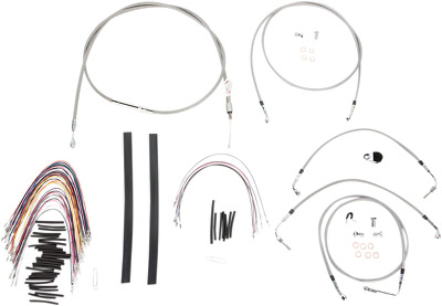 BURLY B30-1105 CABLE and Brake Line Kits Stainless Braid