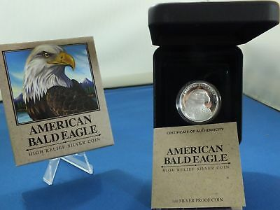 American Bald Eagle High Relief 1 Oz Silver Proof .999 Us