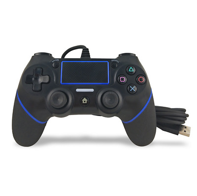 USB Wired Game Controller Blue für PS4 PlayStation 4 Joystick Gamepad