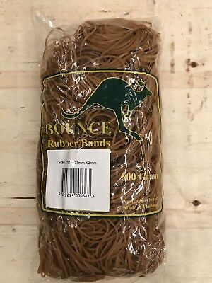 6x packs 500g Large Rubber Bands - Size 18 - approx 2050 bands per 500g