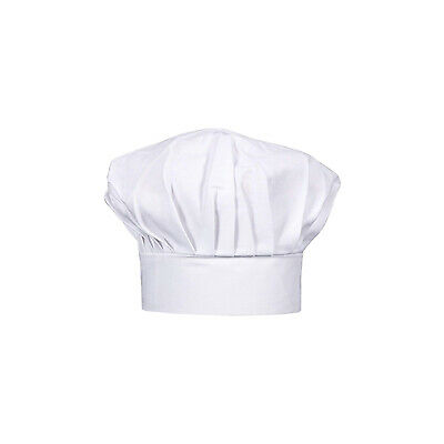 Chef Hat White Traditional Baker Hospitality Uniform Cook Kitchen CLEARANCE