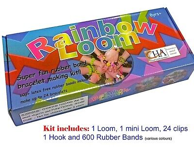 Rainbow Loom Rubber Band Kit Craft Loom Band Box Large Kit