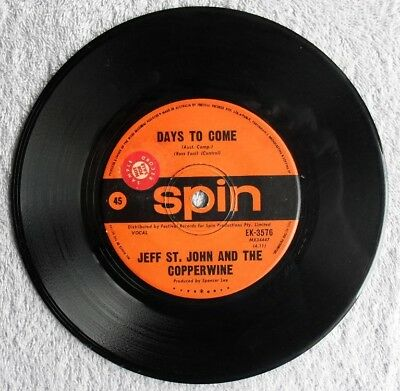 """Jeff St. John and the Copperwine Days to Come Cloud 9 rare 70s 7"""" single psych"""