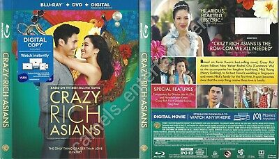Crazy Rich Asians (Blu-ray SLIPCOVER ONLY * no movie included)