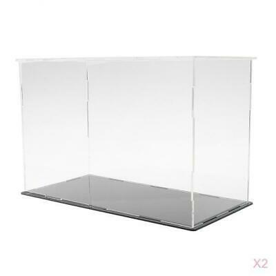 2pcs Clear Acrylic Display Box Case Dustproof Big Size for Doll Figure Model