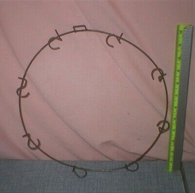 RARE 1940s Christmas Light Ring Wreath Form Timberlake Wire Rod