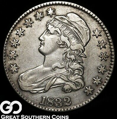 1832 Capped Bust Half Dollar, Early Date Silver Half