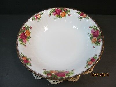 Royal Albert Old Country Roses Round Vegetable Bowl 9.5'' England Serving