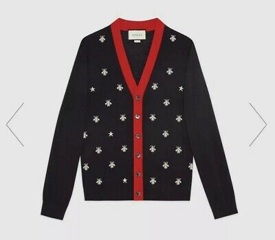 370bd856b GUCCI CARDIGAN SWEATER Mens Bees And Stars New With Box - $780.00 ...
