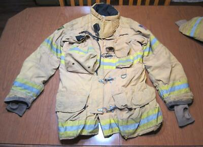 Lion Janesville Firefighter Fireman Turnout Gear Jacket Size 42.32.35 - [C] (F1)