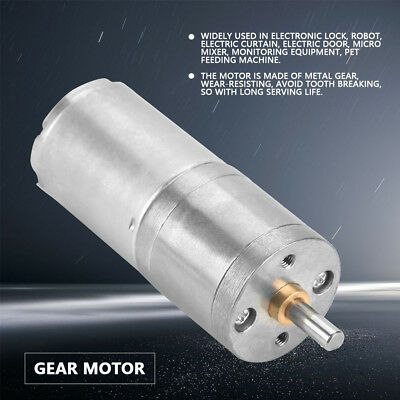 25mm DC 12V 25GA-370 Gear Motor With Metal Gear low Speed 5RPM~1000RPM For DIY