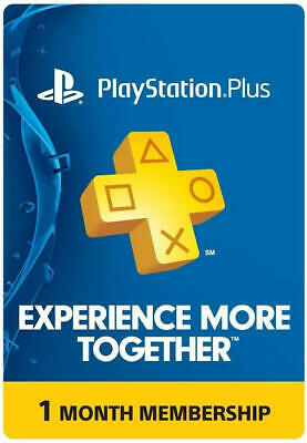 PS Plus 1 months PlayStation plus PS4-PS3 immediate delivery no code