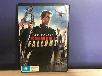 MISSION IMPOSSIBLE FALLOUT (DVD, 2018) Region 4 New & Sealed