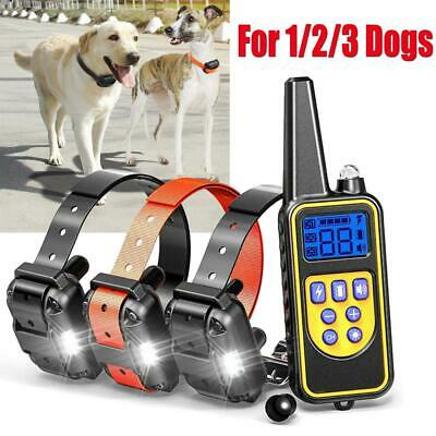 Rechargeable LCD Pet Dog Training Collar Electric Shock 800m Remote Control