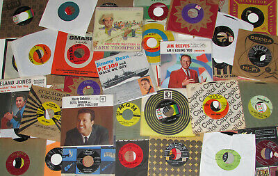1950s 60s 45 rpm EARLY OLD COUNTRY & WESTERN CLEAN RECORD LOT JUKEBOX vinyl old